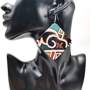 Handmade Groovy Abstract Earrings